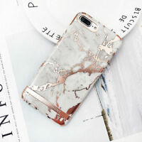 For Apple iPhone X 6 6s 7 8 Plus Marble Pattern Slim Luxury Hard Case Back Cover