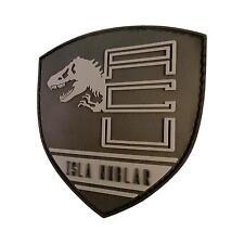 jurassic world isla nublar shield PVC 3D rubber collector emblem hook&loop patch