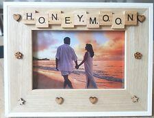 WOODEN PHOTO FRAME - HONEYMOON-Home Decor, Birthday Gift,Scrabble