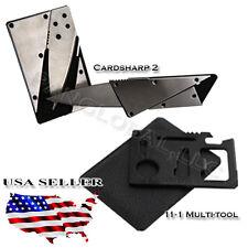 New! Cardsharp Credit Card Folding Razor CardSharp Micro Knife survival tool
