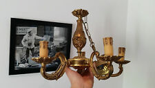 Lustre Bronze LOUIS XV rocaille Vintage FRENCH BRONZE CHANDELIER