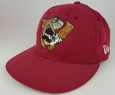 Vintage NewEra Williamsport Crosscutters Old Logo Red Wool 6 & 3/4 Fitted Hat VG