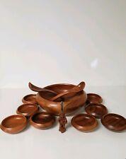 Wooden soup/ Salad Bowl plate 11 pieces, S.C Vizcarra philippine Handicrafts
