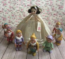 "Madame Alexander Snow White 14"" Doll #1555 & Her 7 Special Friends (Disney)"