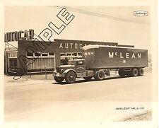 McLEAN TRUCKING CO. 1945 AUTOCAR/FRUEHAUF 8x10 Glossy Photo #2, Winston-Salem,NC