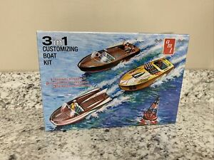 AMT/Ertl 3 in 1 Customizing Boat Model kit 2017 re issue round 2 factory sealed