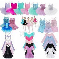 Girls Kid Tutu Ballet Leotard Dance Dress Ballerina Dancewear Costume Skirt 2-12