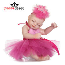 "11"" Handmade Bath Pink Mini Baby Girl Full Silicone Vinyl Reborn Newborn Doll"