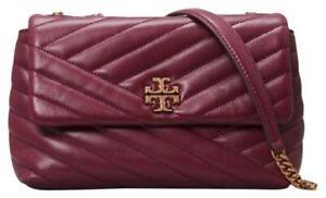 Tory Burch Kira Chevron Small Convertible Shoulder Bag - Imperial Garnet