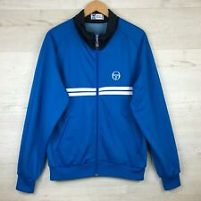 Sergio Tacchini Dallas Full Zip Tennis Tracksuit Top, Sz XL, Rare Made In Italy