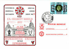 13 AUG 1977 CHARITY SHIELD LIVERPOOL 0 MANCHESTER UNITED 0 COMMEMORATIVE COVER