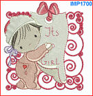 BABY GIRL BLOCKS **12** MACHINE EMBROIDERY DESIGNS 2 SIZES