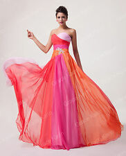 Plus Size Long Evening Ball Evening Gown Bridesmaid Wedding Prom Party Dresses ☇