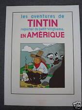 TINTIN HERGE AFFICHE TINTIN EN AMERIQUE /RARE
