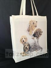 Petit Basset Griffon Vendeen Cotton Shopping Tote Bag with Gusset & Long Handles
