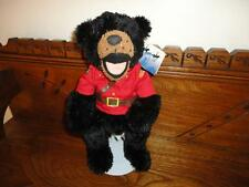 RCMP Canada Mounted Police Bear Stuffed Animal House 12in Black Plush