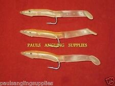 3 X Fladen 9cm Hook Size 4/0 Sea Fishing Portland Sand Eels RED