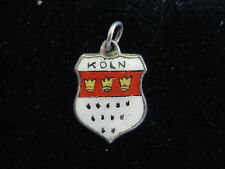 VINTAGE STERLING SILVER ENAMELED KOLN GERMANY SHIELD CHARM
