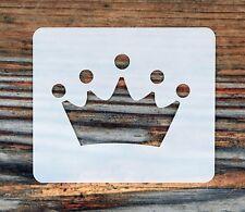 La Principessa Corona Face Painting Stencil 6cm x 7cm 190 Micron Lavabile Riutilizzabile