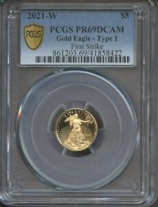 2021-W $5 American Proof Gold Eagle Type 1 PR69DCAM First Strike PCGS Coin