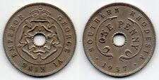 Southern RHODESIA COLONIA Britannica 1937 1 Penny
