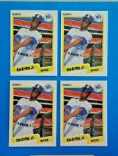 Ken Griffey Jr. (4 card lot ) 1990 FLEER  #513