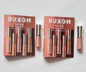 2x BUXOM Full On Plumping Lip Cream WHITE RUSSIAN .05oz Mini Travel Size, C13