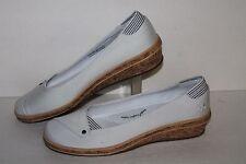 Grasshopper Slip On Casual Shoe, #61443, White/Cork, Womens US Size 7