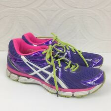 Womens Asics GT-2000 Dynamic Duomax Purple Running Lace Up Athletic Shoes Sz 9.5