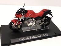 Cagiva V Raptor 1000 1/24 n41 + Broschüre Groß Motorräder ab Sammlerstück Altaya