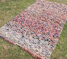 Moroccan Rug 118cm x 190cm beni ourain azilal boucherouite Berber Rugs ref.m51
