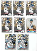 Cody Bellinger Dodgers Rookie Lot of (8) Bowman Topps Update Future Stars Mint