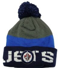 Winnipeg Jets Reebok NHL Hockey Waffle Knit Pom Pom Winter Hat Beanie Toque