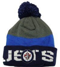 Winnipeg Jets Reebok NHL Hockey Waffle Knit Pom Pom Winter Hat Beanie Toque