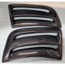 MERCEDES BENZ W204 C63 AMG BUMPER SIDE AIR VENTS INSERT COVERS CARBON FIBER