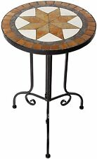 Mosaik Tisch Beistelltisch Blumentisch Dekotisch rund  38x56x38 cm