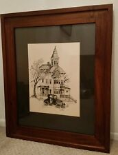 """Susan """"Sue"""" Tolle McClure Framed Signed Victorian House Artwork Numbered 21/100"""
