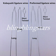 100 Pcs Dental Orthodontic Bracket Preformedkobayashi Ligature Wire Longshort