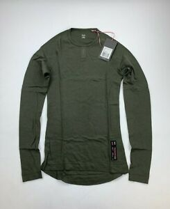 RAPHA Merino Long Sleeve Dark Green Base Layer Size Men's XS New