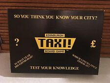 International! Rare! UK Only. Edinburgh Taxi Board Game CERTIFIED FIRST EDITION