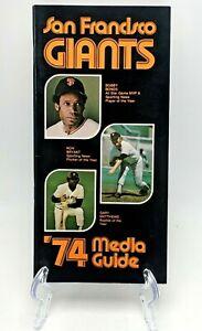 1974 SAN FRANCISCO GIANTS MEDIA GUIDE Yearbook BOBBY BONDS Press Book Program AD