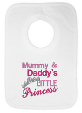 Mummy and Daddy's Little Princess Embroidered Bib by Daisy Chain Embroidery