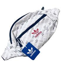 NEW Adidas Originals National Unisex White Adjustable Fanny Pack Bag Waist NWT