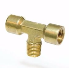"1/4"" NPT Brass Female Male Center Branch Tee Fitting Fuel, Air, Water, Oil, Gas"