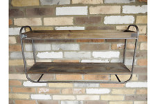 Industrial Style Double Wooden Shelves
