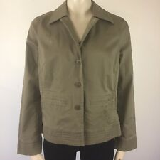 Sigrid Olsen Womens Green Cotton Unlined Jacket Size 12P