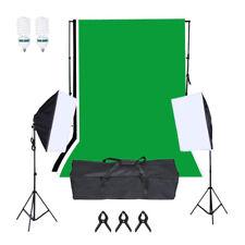 Fot-R W conjunto de iluminación de fondo de estudio fotográfico Softbox Kit De Bombilla de Soporte de telón de fondo
