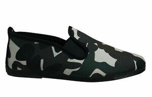 Flossy Style Bruno Unisex Espadrille Slip On Plimsolls Shoes 55369 Khaki Camo