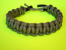 Original Style 550 ParaCord Survival Cobra Braided Bracelet - OD Green & Black