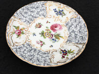 Antique plate floral Grainger and co bone china dresser plate Worcester 22.5 cm